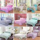 Floral Flower Print Flat Sheet Comfort Bedding Cover Twin/Full/Queen/King Size image