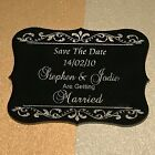 Save The Date - Laser Engraved & Cut Acrylic - Personalised Option 9 25 Pieces
