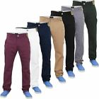 Mens Chino Jeans Regular Fit Stretch Cotton Straigt Leg Pants Trouser Waist32-40