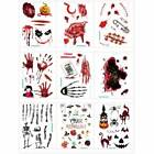 Halloween Temporary Scar Blood Tattoos Sticker Wound Scab Removable