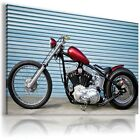 HARLEY DAVIDSON  MOTOR BIKE RED BLACK Large Wall Canvas Picture ART HD19 MATAGA £40.79 GBP on eBay