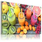 SMOOTHIES DRINK KIWI RASPBERRY View Canvas Wall Art Picture Large SIZES DR22  X