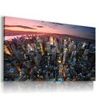 NEW YORK CITY BY NIGHT PERFECT View Canvas Wall Art Picture Large SIZES  L63   X