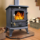 5.5KW Multifuel Cast Iron Log Burner Wood Burning Stove Woodburners Clean Burn
