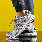 Men Knit Running Shoes Casual Athletic Sneakers  Gym Workout Walking Shoes
