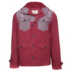 NEW MEN'S DESIGNER BELLFIELD 'HALE' BURGUNDY BRICK  LIGHT WEIGHT COAT JACKET