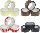CLEAR BROWN FRAGILE TAPE MASKING BUFF GAFFER SELLOTAPE BOX PACKING PARCEL STRONG