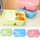 3 Compartments Bento Lunch Box Food Boxes For Kids Adults Microwave With Spoon