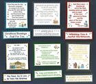 6 Christian Religious Christmas Card Verse Toppers W/WO Matching Sentiments