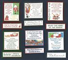 6 Cute SANTA Christmas Card Craft Verse Toppers W/WO Matching Sentiment Banners