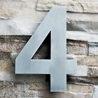 QT Modern House Number and Letter- LARGE 8 Inch - Brushed Stainless Steel
