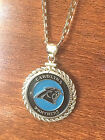 STERLING SILVER ROPE PENDANT W/ NFL CAROLINA PANTHERS d SETTING JEWELRY GIFT on eBay