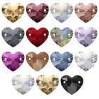 Genuine Swarovski 3259 Heart Crystal Flat Back Sew on Stones *Pick Size Colour