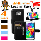 Leather Wallet Stand Folio Flip LSP Case Cover For Samsung Galaxy S6 / SM-G920