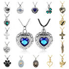 Cystal Heart Pendant Cremation Jewellery Ashes Holder Keepsake Urn Necklace
