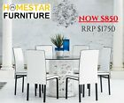 DINING SETTING Robin 7pc Dining Series - Choose from 3 Different Kind of Chairs