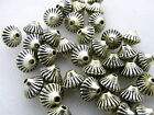 6x7mm 150/300/600pcs ANTIQUE GOLD COLOR ACRYLIC FACETED BICONE BEADS AB84946