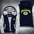 Men Women Football Green Bay Packers Zipper Jacket Thicken Hoodie Coat Clothing
