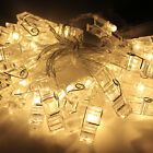 Fairy String LED Lights-20 Clips Photo Battery Twinkle Wedding Christmas Party