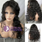 """12~22"""" Queen Curly 100% Brazilian Real Human Hair Front Lace Wigs 150% Density"""