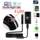 8 LED WIFI Endoscope Inspection Camera Wireless Borescope for Android iPhone UK