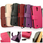 PU Leather Flip Clutch Wristlet Stand Wallet Card Case for Galaxy S4 i9500 LOT