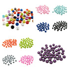 150PCS/6MM 100PCS/8MM MULTI-COLOURED ROUND ACRYLIC BEADS FOR JEWELLERY MAKING