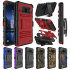 Defender Hybrid Kickstand Holster Clip Case Cover for Samsung Galaxy S8 Active