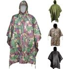 WATERPROOF RIPSTOP HOODED PONCHO FESTIVAL RAIN COAT  MTP BTP ARMY CAMO MENS