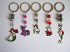 Girls Kids , Mermaid, Unicorn, Peppa Pig, Twilight Sparkle Keyring, Bag Charms