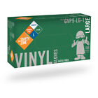1000 Clear Vinyl Gloves Powder Free Food Service Cleaning by The Safety Zone
