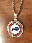 Kyпить STERLING SILVER ROPE PENDANT W/ NFL BUFFALO BILLS b SETTING JEWELRY GIFT на еВаy.соm