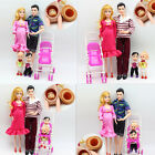 UK Xmas Gift Dolls Family Educational Real Pregnant Doll Happy Family for Barbie