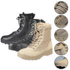 Men Army Tactical Combat Military Zipper Ankle Boots Outdoor