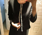 Kate Spade NEW YORK Open Front Tweed Jacket in Black with Pearl details Elegant