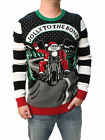 Ugly Christmas Sweater Men's Jolly To The Bone LED Light Up Sweatshirt