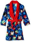 Justice League Boys L/S Character Print Plush Robe Size 4/5 6/7 8 10/12