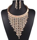 Fashion Women Crystal Chunky Pendant Statement Bib Necklace Earrings Jewelry Set <br/> Many Styles Of Necklace For You Buy 1 Get 1 at 5% off