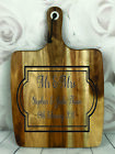 Engraved Painted & Personalised Bread/Chopping Board - Wedding Gift - 65