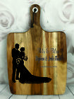 Engraved Painted & Personalised Bread/Chopping Board - Wedding Gift - 67