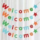 Welcome Letter Paper Flag Banner Bunting Garland Wedding Party Hanging Decor