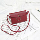 Women Messenger Bag Cross-body Casual Shoulder Bag with Metal Ring&Lichi Stria