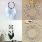 35~160mm Strong Metal Dreamcatcher Macrame Craft Hoops Ring Feather Pentacle UK