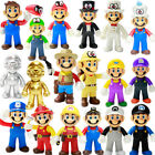 2019 Gifts High quality Cute Super Mario Bros Luigi Mario Action Figures Toys 5""