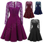 Women's New Vintage Lace Formal Wedding Cocktail Evening Party Retro Swing Dress
