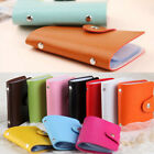 Mens Womens Leather Small Id Credit Card Wallet Holder Slim Mini Pocket Case