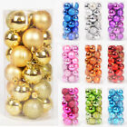 24PC 3cm Glitter Christmas Balls Baubles Xmas Tree Ornament Christmas Decors