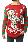 Ugly Christmas Sweater Teen Boy's Santa's Martini My Guy Sweater