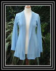 Passport Pink or Blue long knitted cardigan NWOT