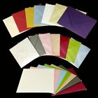 Small Envelopes Various Colours Pearlescent Shimmer Metallic RSVP Gift Tag Cards